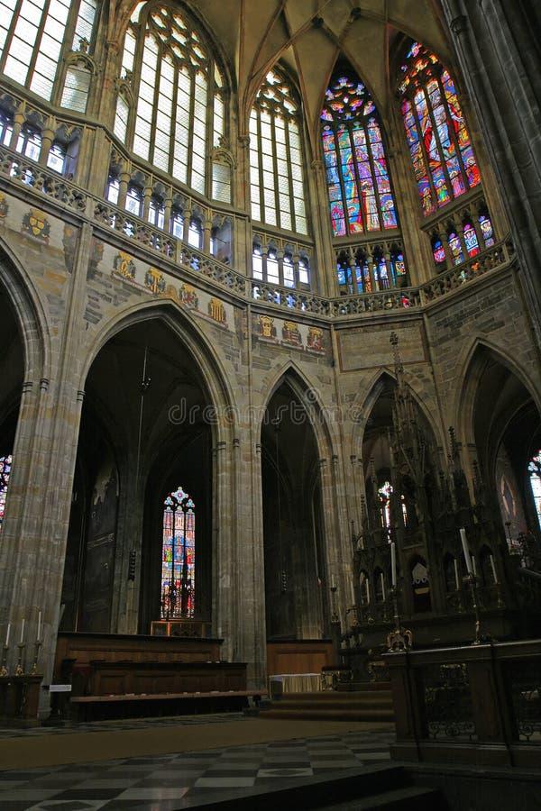 Interiores do St Vitus imagem de stock