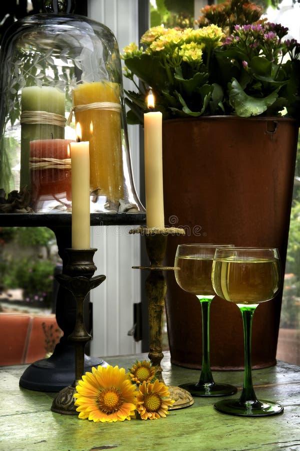 Interiores do vinho imagem de stock