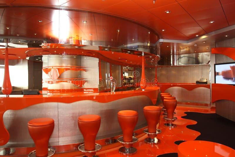 Interiores e descanso magníficos no cruzeiro o navio fotos de stock royalty free