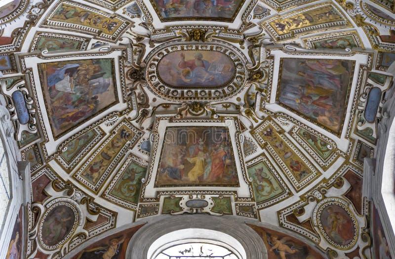 Interiores y detalles de la catedral de Volterra, Volterra, Italia fotos de archivo libres de regalías