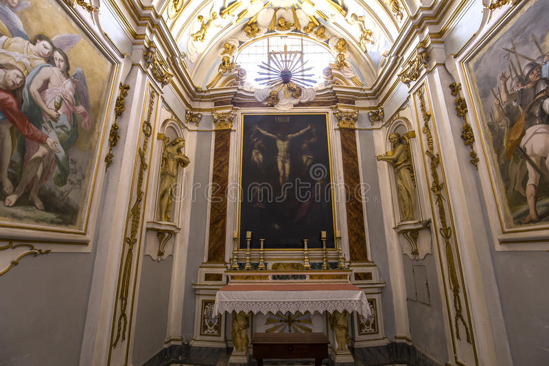 Interiores y detalles del charterhouse de Pisa, Pisa, Italia fotografía de archivo