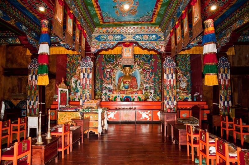 Interiori del monastero di Ravangla fotografia stock libera da diritti