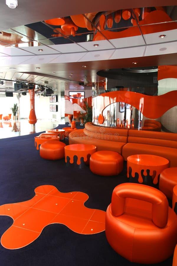 Interiori e resto magnifici su crociera la nave immagini stock libere da diritti