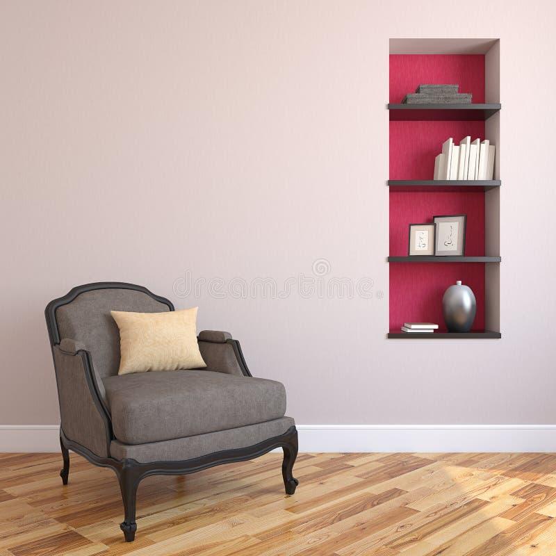 Interiorof-Wohnzimmer. lizenzfreie abbildung