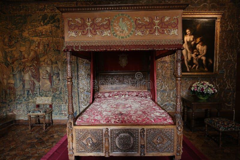 Interiors of Chateau de Chenonceau, Vallee de la Loire, France royalty free stock image
