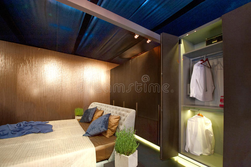 Interiors design stands and home architecture royalty free stock images