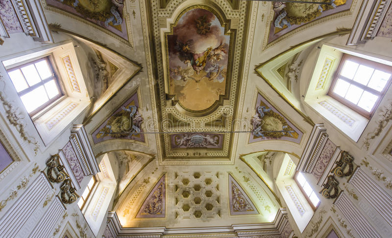 Interiors and details of Pisa charterhouse, Pisa, Italy. PISA, ITALY, JUNE 05, 2016 : interiors and architectural details of Pisa charterhouse, june 05, 2016 in royalty free stock image