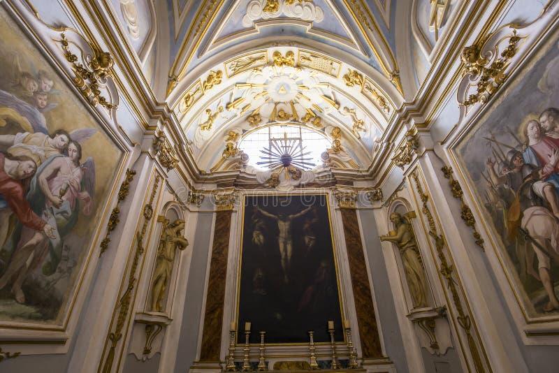 Interiors and details of Pisa charterhouse, Pisa, Italy. PISA, ITALY, JUNE 05, 2016 : interiors and architectural details of Pisa charterhouse, june 05, 2016 in stock photography
