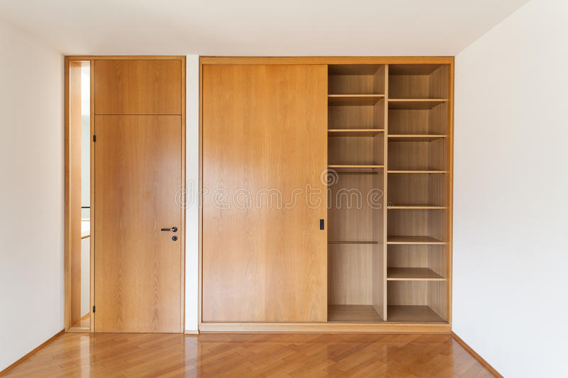 Interiors of empty apartment royalty free stock images