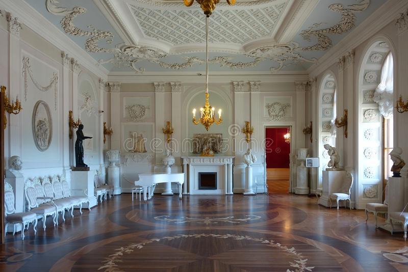 Interiors of the Gatchina Palace royalty free stock images