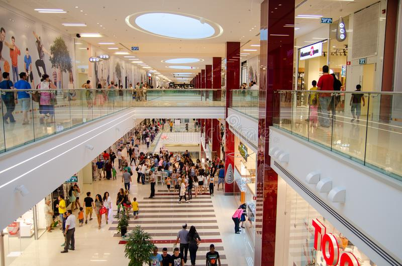 Interiors of Grand Canyon Shopping Mall of Beer-Sheva stock photography
