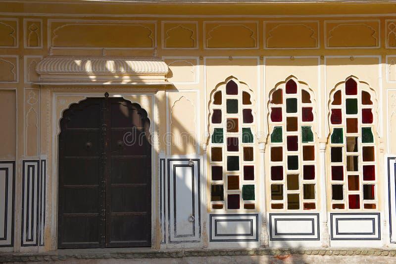 Interiors, Hawa Mahal, Palace Of The Winds, Jaipur, Rajasthan. Interiors, Hawa Mahal, Palace Of The Winds, Jaipur Rajasthan India stock photo