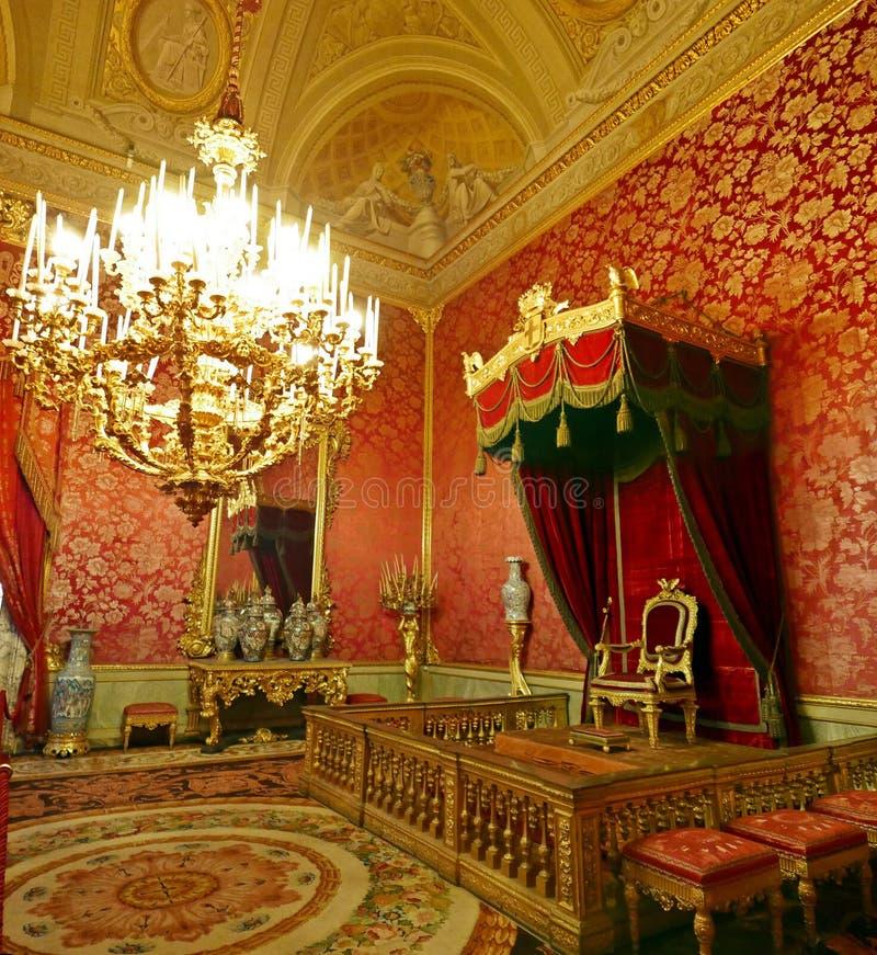 Palazzo Pitti. Interiors of Palazzo Pitti, Florence, Italy. The royal room stock photos
