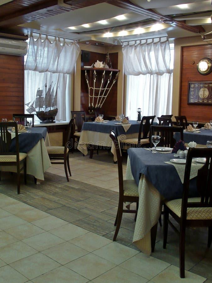 Interiors restaurant. royalty free stock image