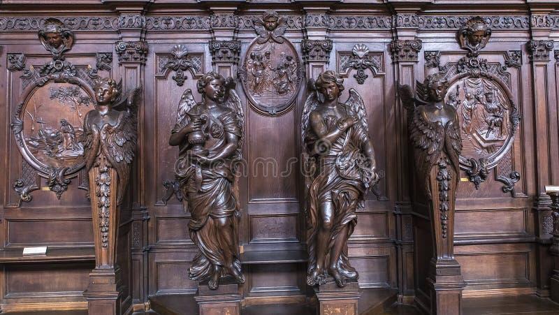 Interiors of Saint Charles Borromee church, Anvers, Belgium stock image
