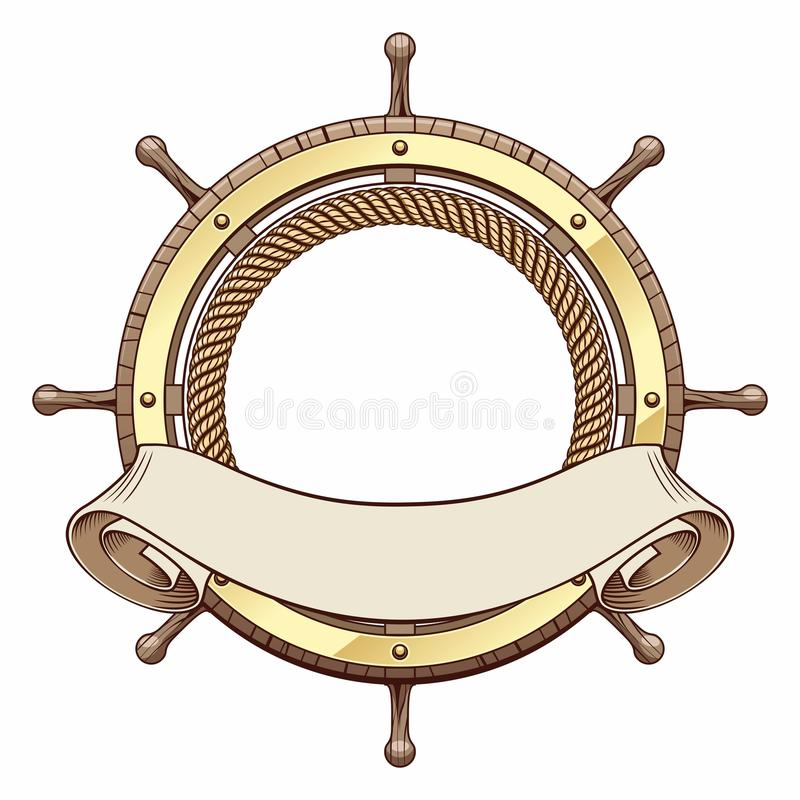 Interiortransportation de la direction wheel illustration libre de droits