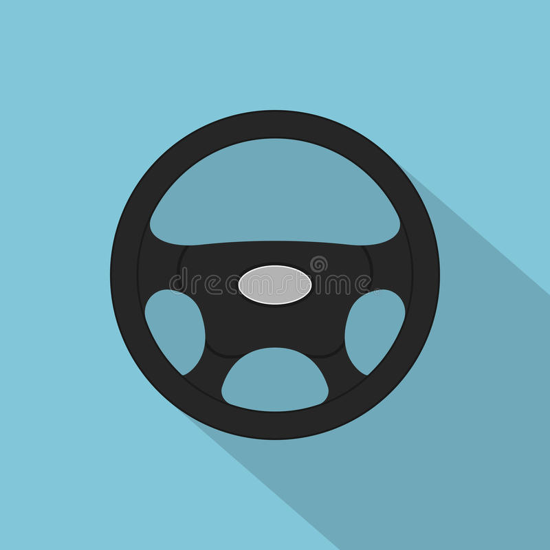 Interiortransportation del manejo wheel stock de ilustración