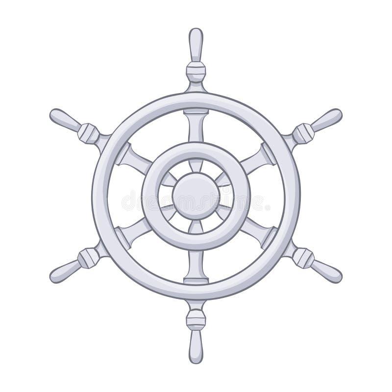 Interiortransportation del manejo wheel Dibujo gris stock de ilustración