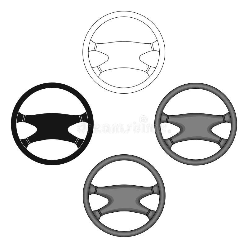 Interiortransportation del manejo wheel E stock de ilustración