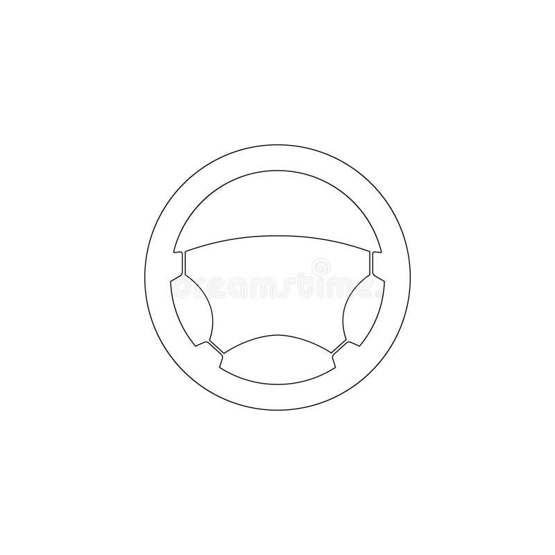 Interiortransportation del manejo wheel Icono plano del vector stock de ilustración