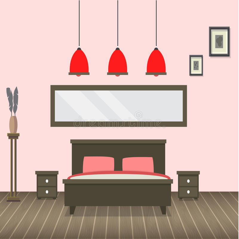 interiorvardagsrum för bild 3d vektor illustrationer