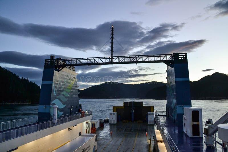 Interislanderveerboot, Nieuw Zeeland stock foto's