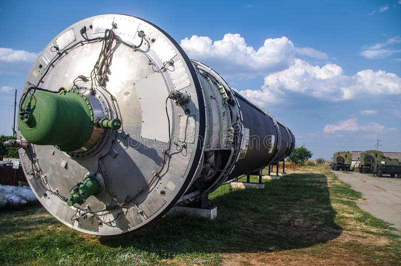 Interkontinental ballistisk missil royaltyfria bilder