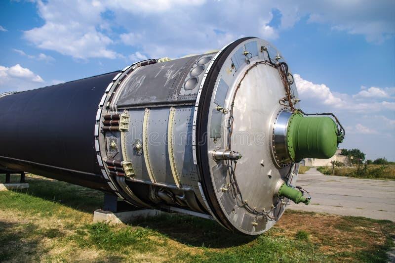 Interkontinental ballistisk missil royaltyfri bild