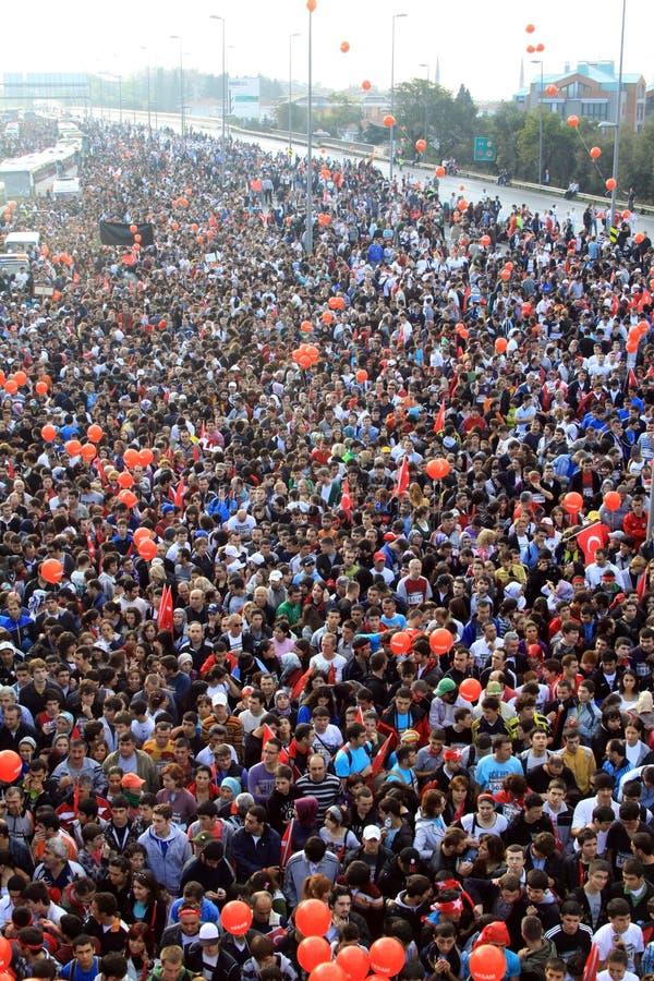 Interkontinentalmarathon istanbul-Eurasia lizenzfreies stockbild