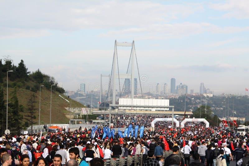 Interkontinentalmarathon istanbul-Eurasia stockfotos