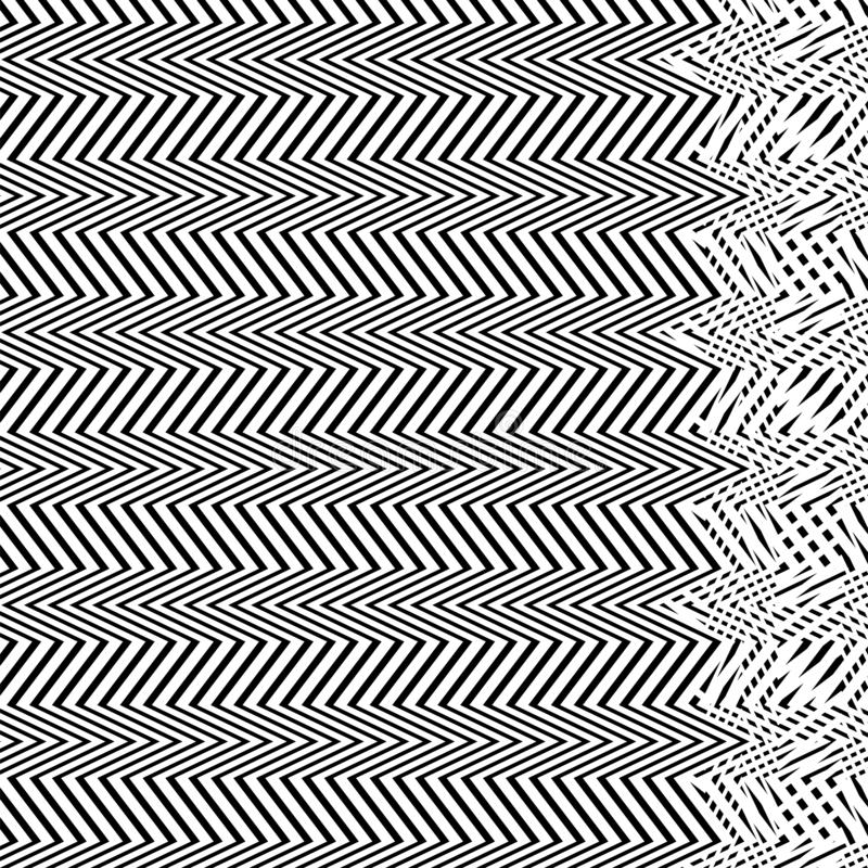 Interlace, interlocking lines. Curve, flex intersecting lines grid, mesh. Interweaved waving, zig-zag lines. Combined, merging. Lines, stripes pattern royalty free illustration