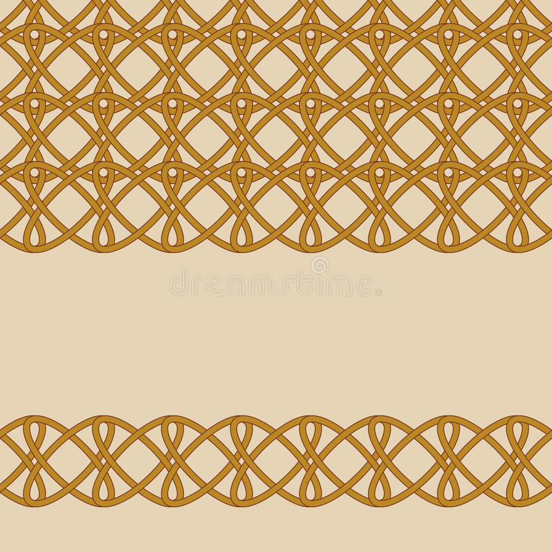 Interlacement2. Vector seamless background of wicker elements vector illustration