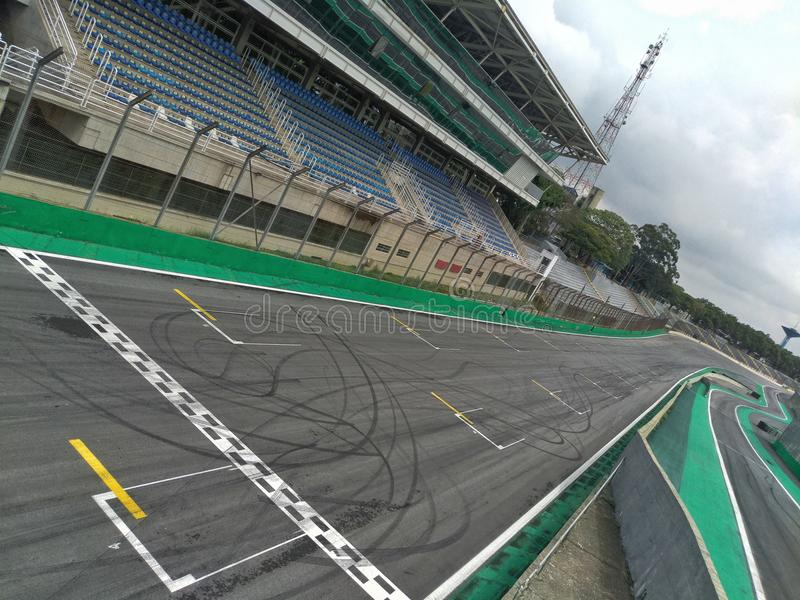 Interlagos Racetrack Grid royalty free stock images