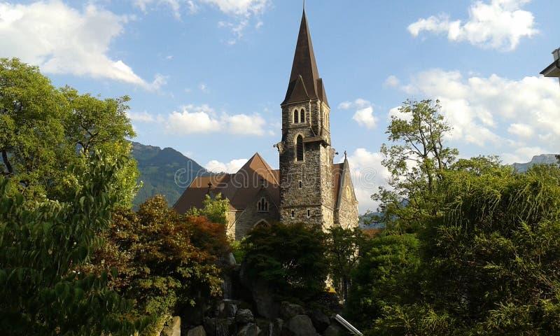 Interlaken schweizare royaltyfri bild