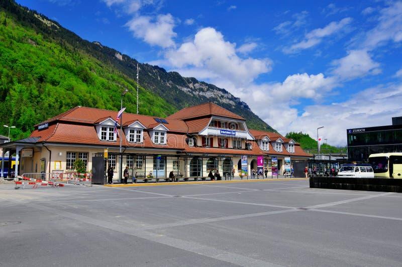 Interlaken stacja kolejowa obrazy stock
