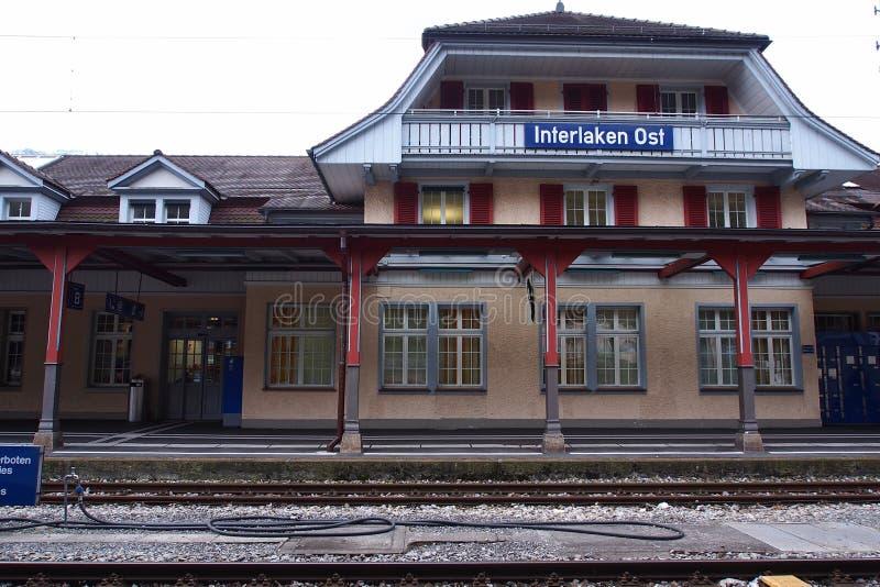 Interlaken-Station stockfoto