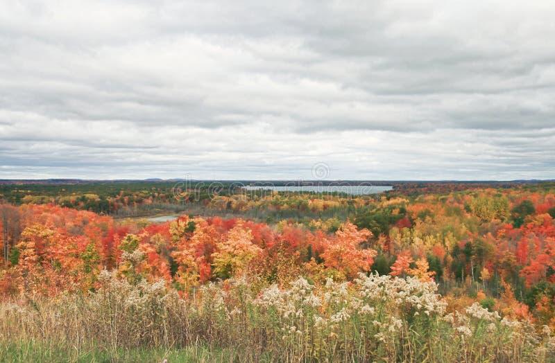 Interlochen Michigan Autumn Landscape stock photography