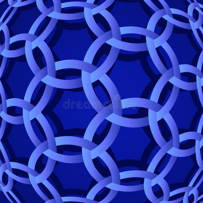 interlocking för cirklar vektor illustrationer