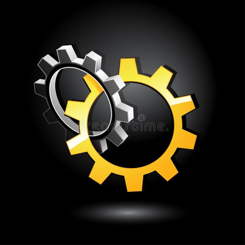 Interlocking gears vector illustration