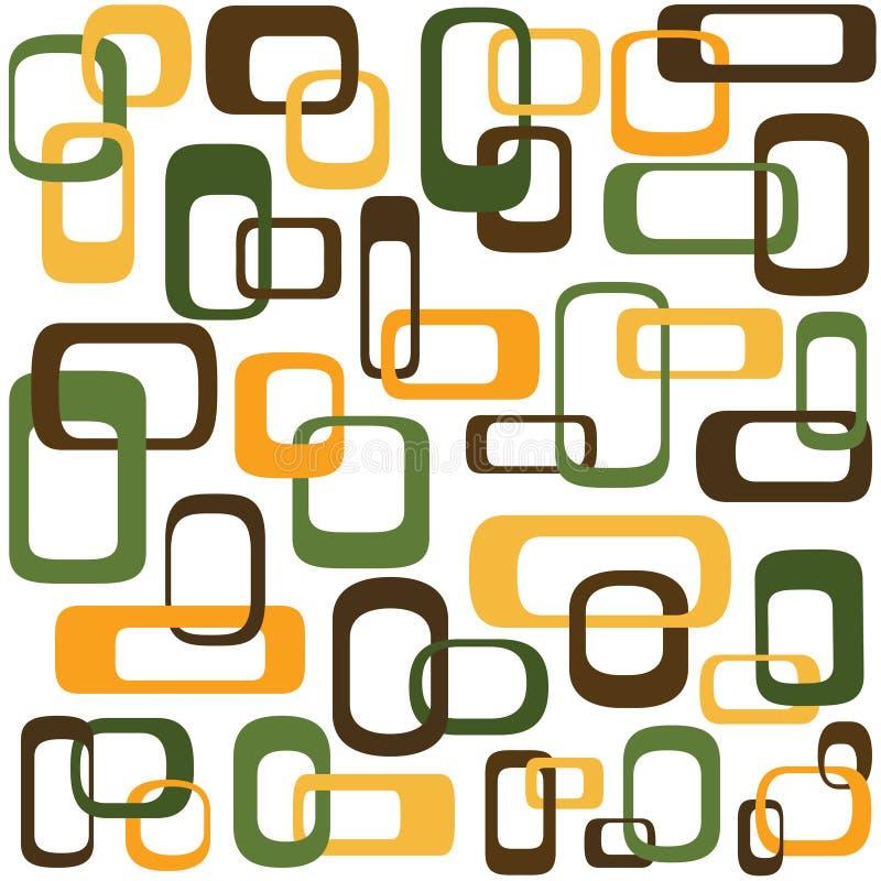 interlocking retro fyrkanter vektor illustrationer