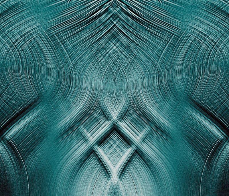 Interlocking trådar för fantastisk blue royaltyfri illustrationer