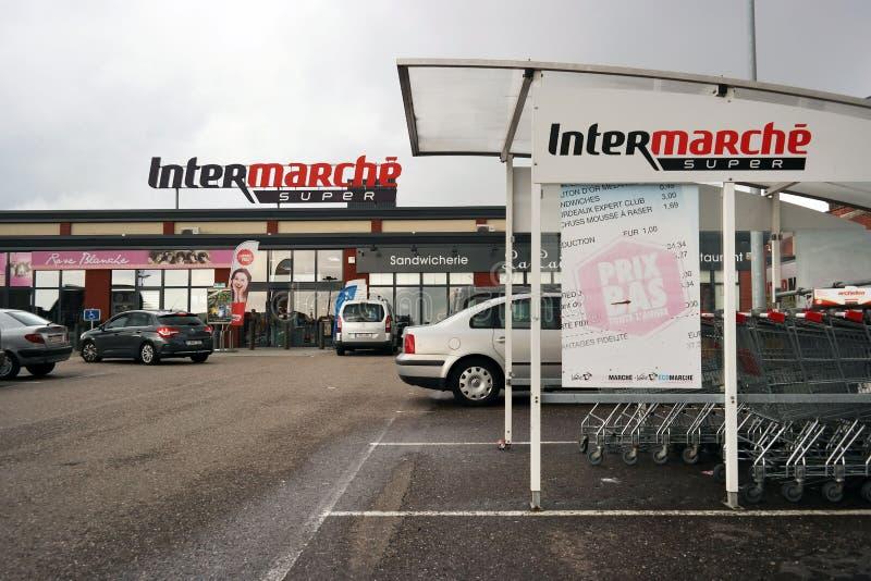 Intermarché超级市场 免版税图库摄影