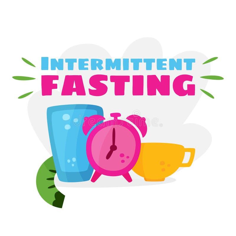 Intermittent fasting. Losing weight. Intermittent fasting. The concept of losing weight. Slimming and its benefits. Vector cartoon vector illustration