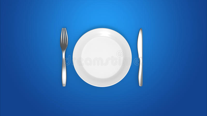 Intermittent fasting diet royalty free illustration