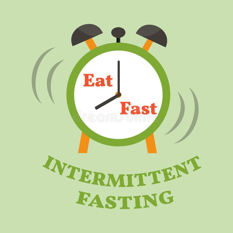 Intermittent fasting diet. Time restricted eating. Vector illustration vector illustration