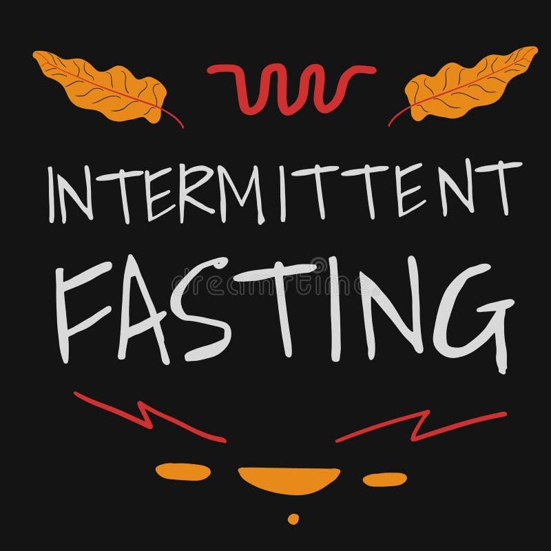 Intermittent Fasting hand drawn Lettering. Vector Illustration royalty free illustration