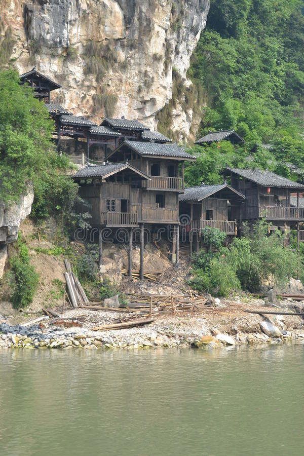 Intermountain Chinese oude architectuur stock afbeelding