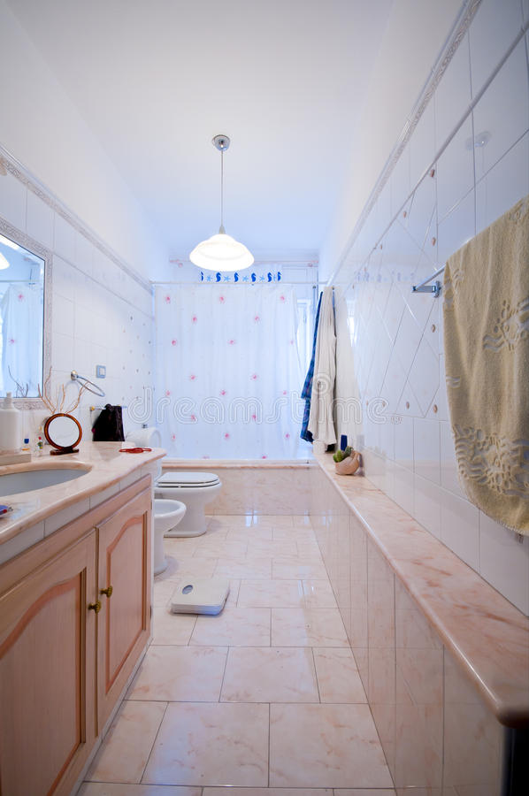 intern marmor för badrum arkivbilder