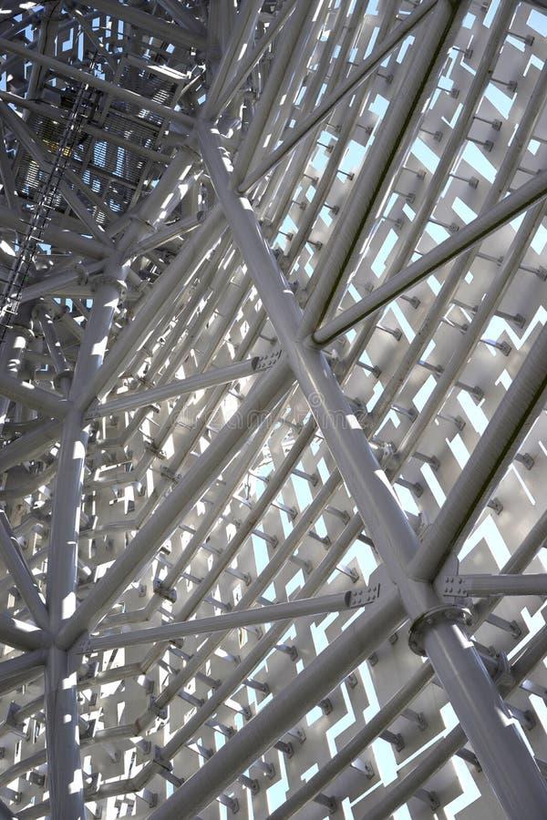 Intern structureel staal van Kelpies stock foto