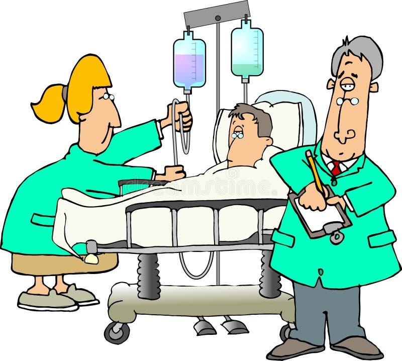 Intern verpleegde patiënt vector illustratie